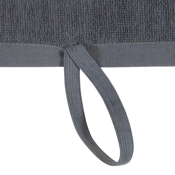 Toalla pequeña de algodón fitness Gris