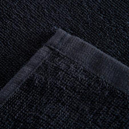 Small Cotton Fitness Towel - Black
