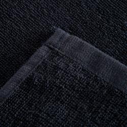 Kleine katoenen handdoek fitness zwart
