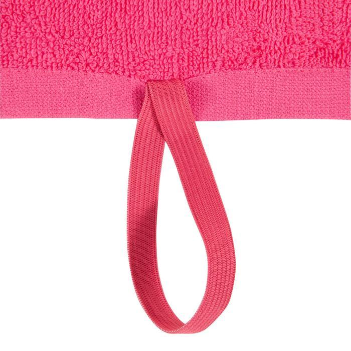 Kleine katoenen handdoek voor de fitness roze