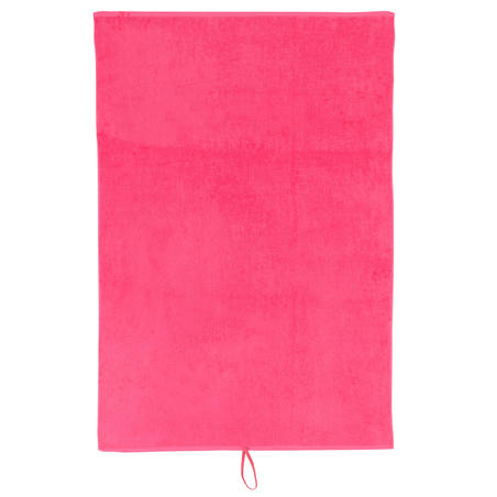 Large Cotton Fitness Towel - Pink