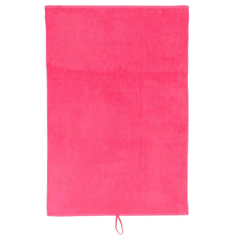 Serviette grande fitness coton rose