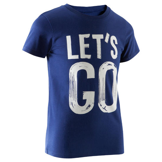 T-shirt met korte mouwen en print gym jongens - 1067027