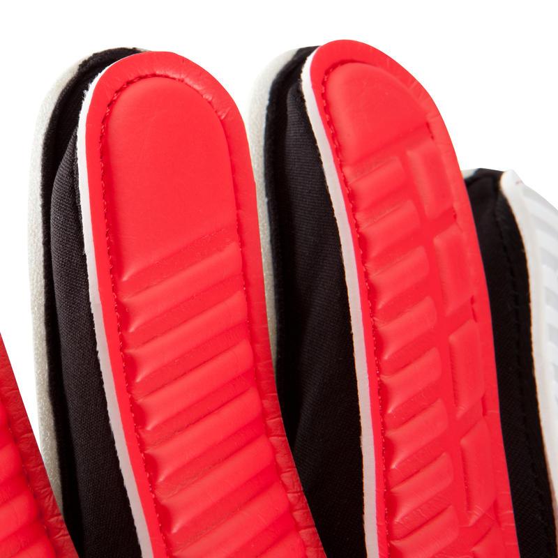 Football Goalkeeper Gloves F500 - Red/Black
