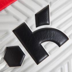 Torwarthandschuhe F500 Fußball Erwachsene rot/schwarz