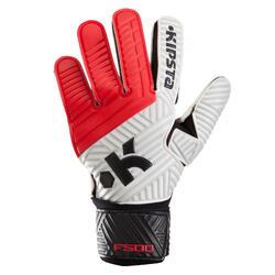 Keepershandschoenen volwassene F500 rood zwart