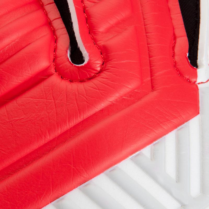 Gant de gardien de football adulte F500 rouge noir