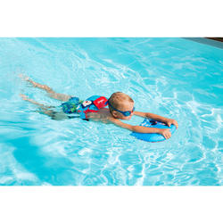 Zwemplank voor kinderen blauw met piraatprint