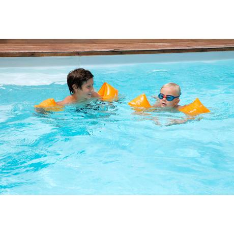 Children S Swimming Armbands Orange Nabaiji