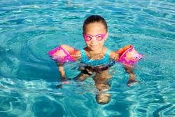 Lunettes de natation 100 XBASE Taille P DYE Rose Bleu