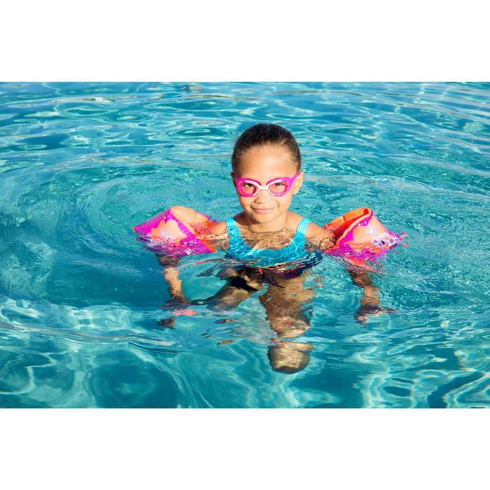 "Brassards natation roses intérieur tissu ""SOFT"" imprimé ""SIRÈNE"""