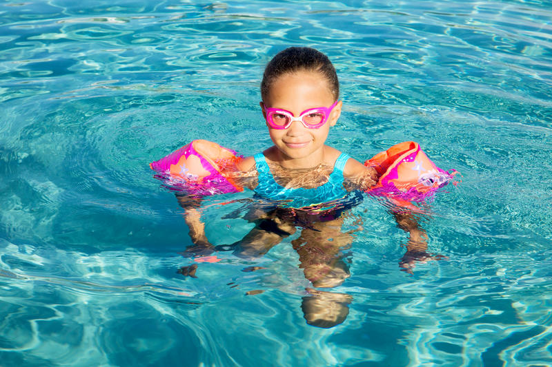 Swimming Goggles Small XBASE- Pink Blue
