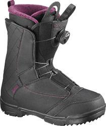 All mountain snowboardschoenen voor dames Pearl boa coiler zwart/paars