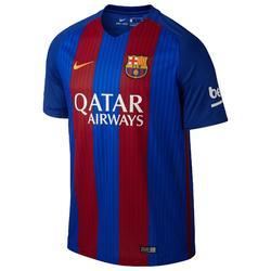 Camiseta de fútbol para niños réplica Barcelona local azul rojo