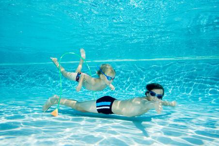 Окуляри Xbase для плавання, розмір S - Сині/Червоні