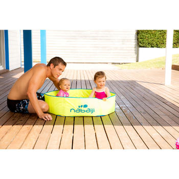 Zwembadje met waterdichte tas Tidipool geel