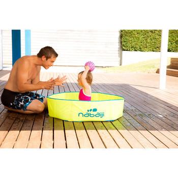 小型游泳學習球,綠底搭配藍色斑點