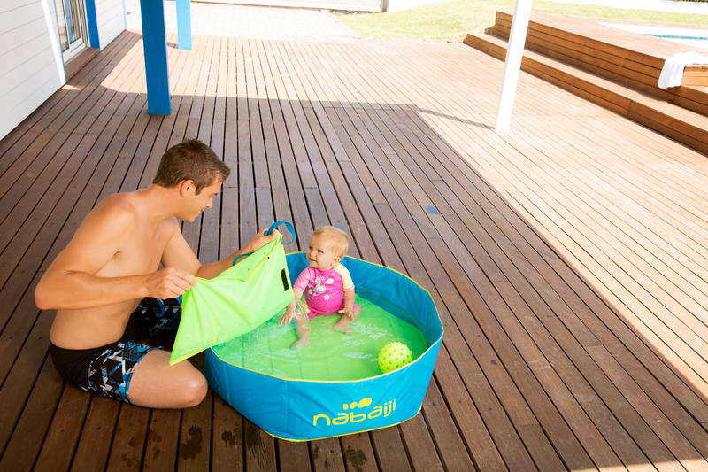 TIDIPOOL children's small blue pool with waterproof carry bag