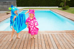 Kinderponcho met kap Gigi roze - 1067452