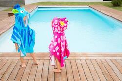Kinderponcho met kap Gigi roze - 1067455