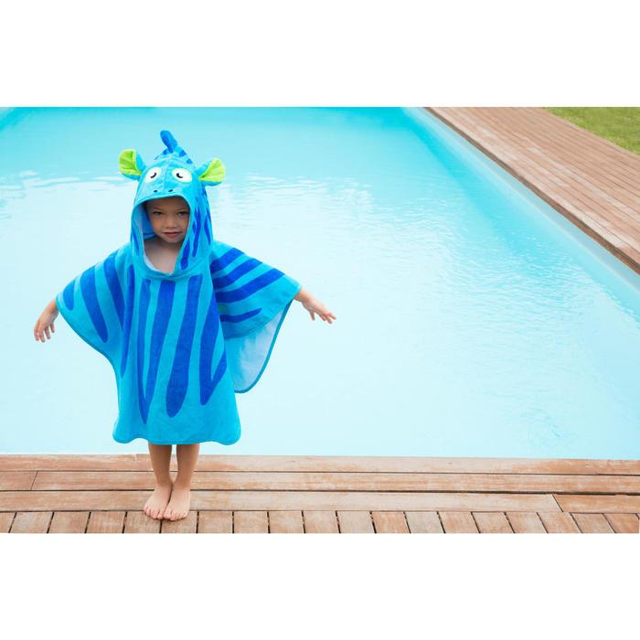 Poncho bébé avec capuche bleu zebro - 1067456