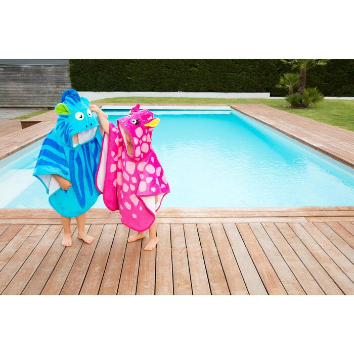 Poncho bébé avec capuche rose gigi - 1067458
