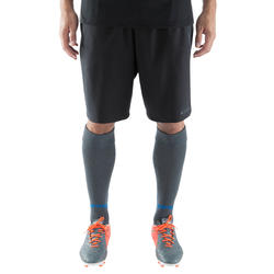 F500Z Adult Soccer Shorts with Zipper Pockets - Black