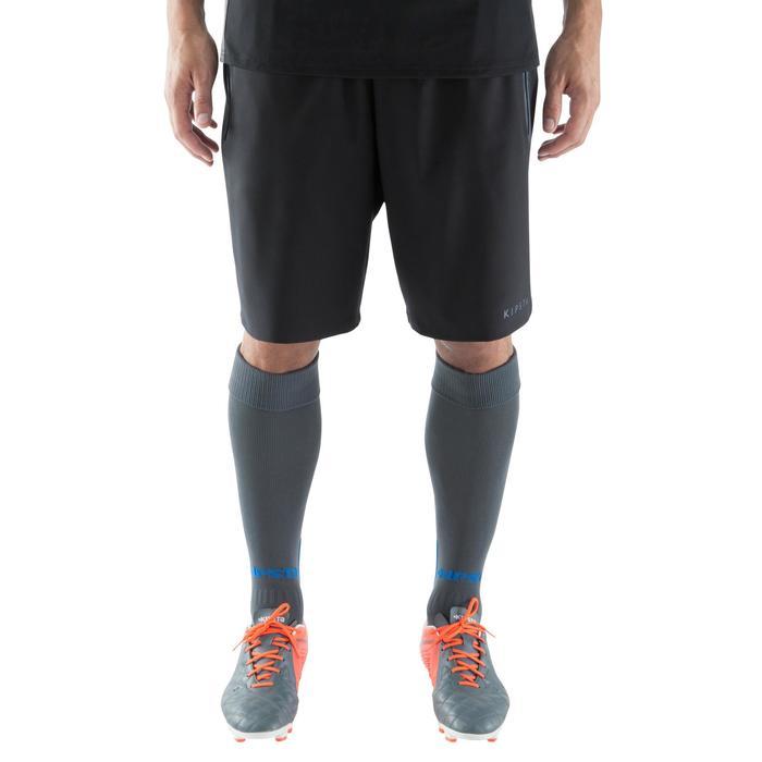 Short de football avec poches zippées adulte F500 noir - 1067794