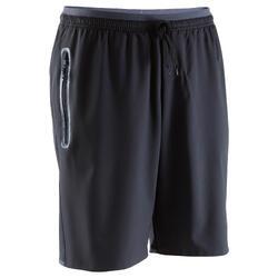 Pantalón corto de fútbol bolsillos con cremallera adulto F500 negro
