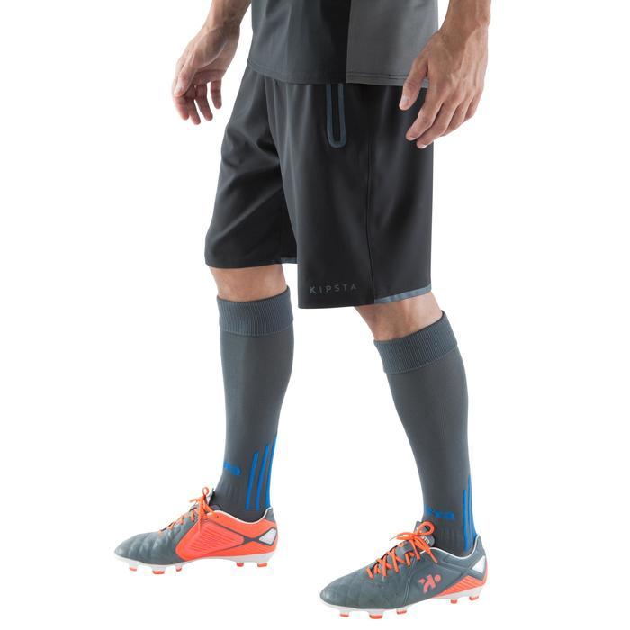 Short de football avec poches zippées adulte F500 noir - 1067796