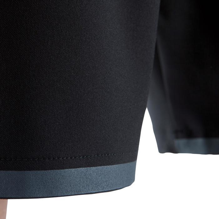 Short de football avec poches zippées adulte F500 noir - 1067798