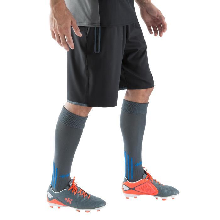 Short de football avec poches zippées adulte F500 noir - 1067802