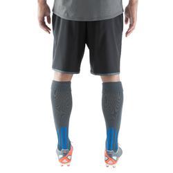 Fußballshorts F500 mit RV-Taschen Erwachsene schwarz