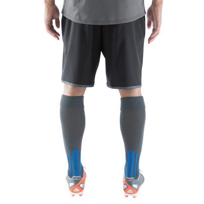Short de football avec poches zippées adulte F500 noir - 1067803