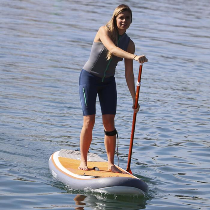 SHORTY KAYAK STAND UP PADDLE 500 NEOPRENO 2 mm MUJER GRIS AZUL