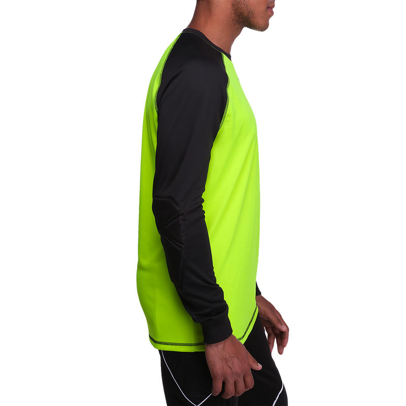Adult Football Goalkeeper Jersey F300 - Yellow Black
