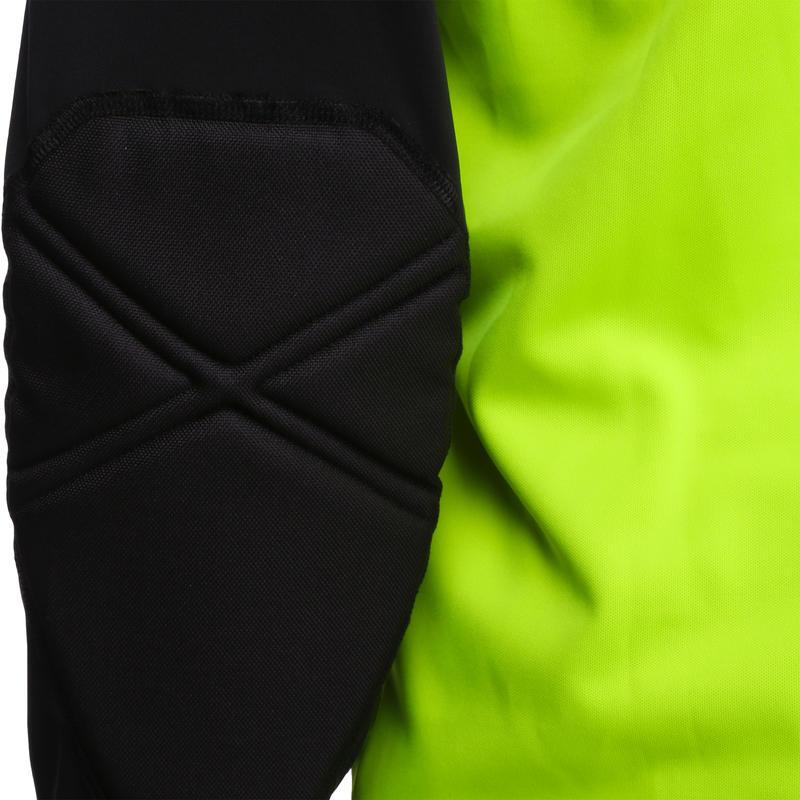 ถุงมือผู้รักษาประตูสำหรับผู้ใหญ่รุ่น F300 (สีดำ/เหลือง)