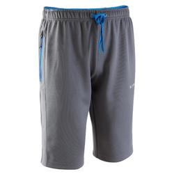T500 Adult Long Football Training Shorts - Grey/Blue