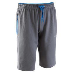 T500 Adult Long Football Training Shorts - Grey/Blue