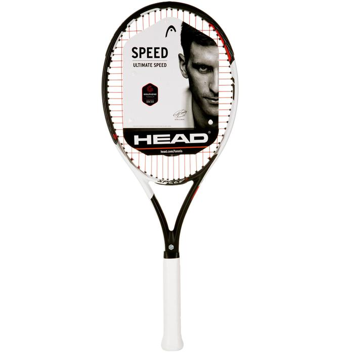 RAQUETTE DE TENNIS  ADULTE SPEED S NOIR BLANC - 1069597