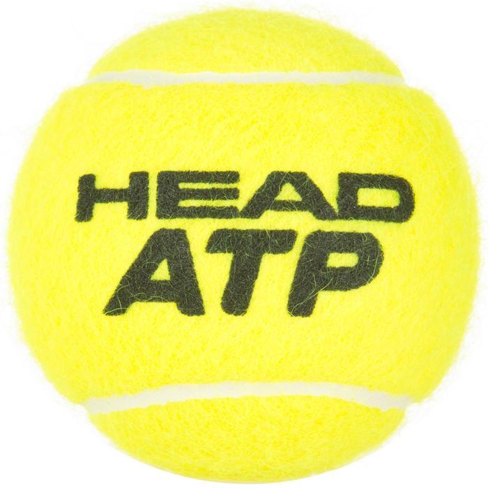 BALLES DE TENNIS ATP LOT DE 4 JAUNE