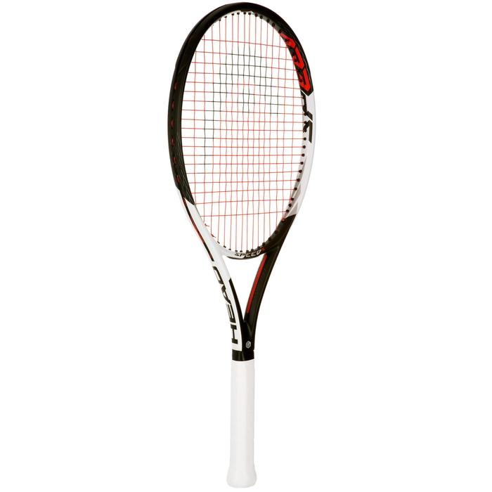 RAQUETTE DE TENNIS  ADULTE SPEED S NOIR BLANC - 1069810