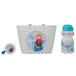 Fietsset voor kinderen Frozen Disney: bel, drinkbus en fietsmand - 1069944