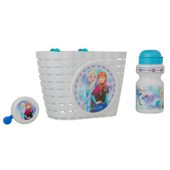 Fietsset voor kinderen Frozen Disney: bel, drinkbus en fietsmand - 1069945