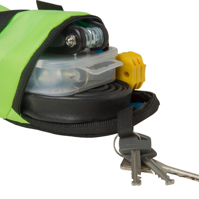 500 Bike Saddle Bag M 0.6L - Yellow