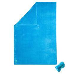 Toalla de microfibra azul cian ultra suave talla L 80 x 130 cm