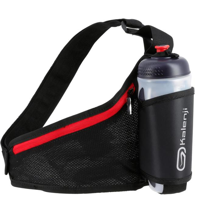 Water-bottle running belt 500 ML black red