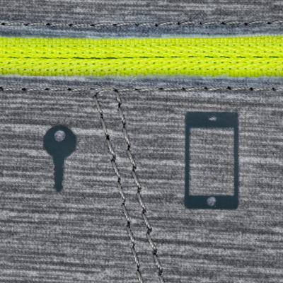 CEINTURE SMARTPHONE RUNNING GRIS