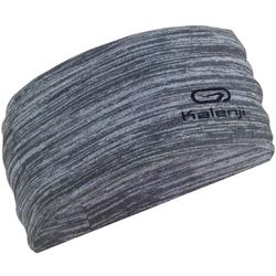 KALENJI RUNNING HEADBAND MULTIPURPOSE MOTTLED GREY