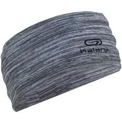 Multifunctionele hoofdband voor hardlopen gemêleerd grijs Kalenji